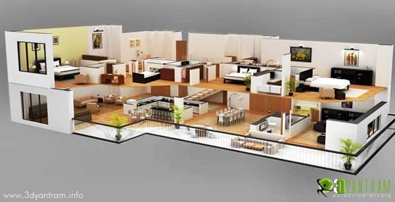3d floor plan architectural animation 3d floor plan